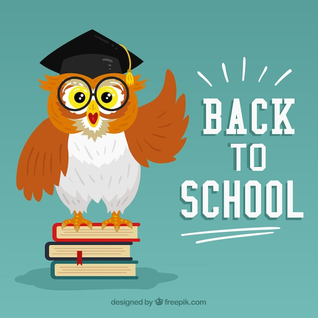 Back to school background with flat design Free Vector