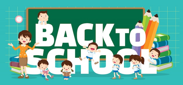 Back to school background Premium Vector