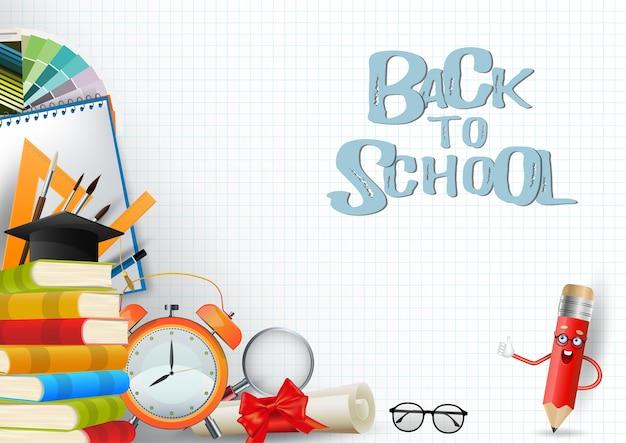 Back to school background Premium Vector