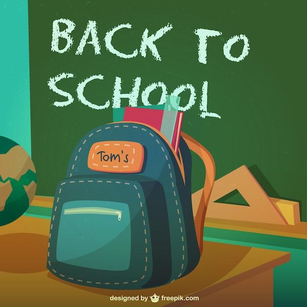 Back to school bagpack Free Vector