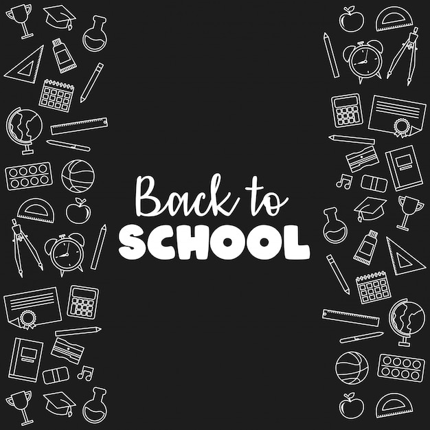 Back to school banner vector illustration Premium Vector