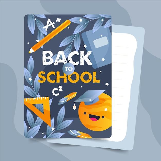 Torna al pacchetto di modelli di tessere scolastiche Vettore gratuito