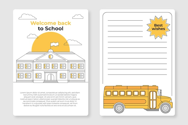 Torna al modello di carta di scuola Vettore gratuito