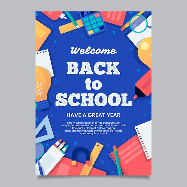 Back to school card Free Vector