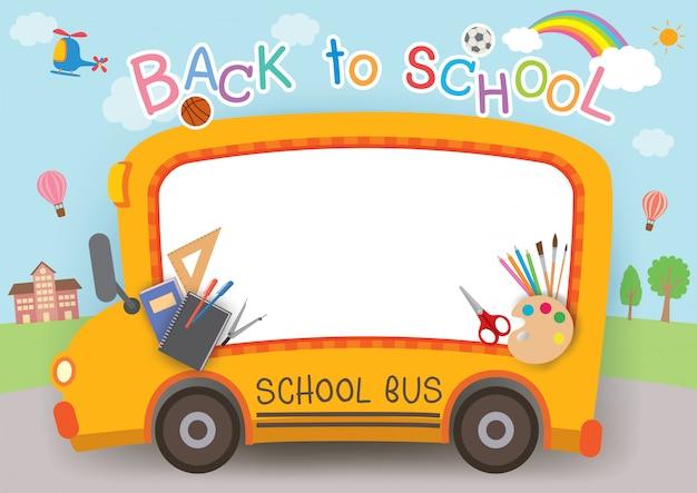 Back to school card Premium Vector