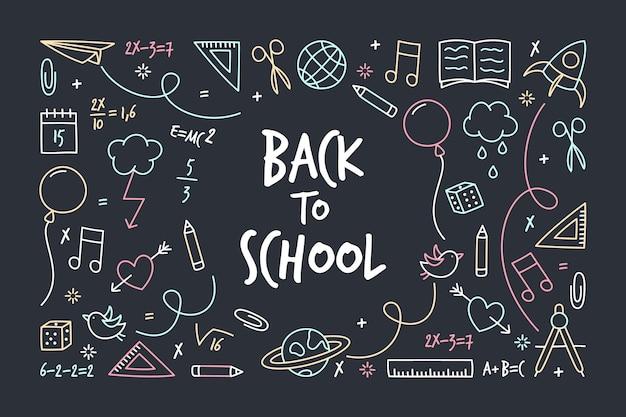 Back to school chalkboard background Free Vector