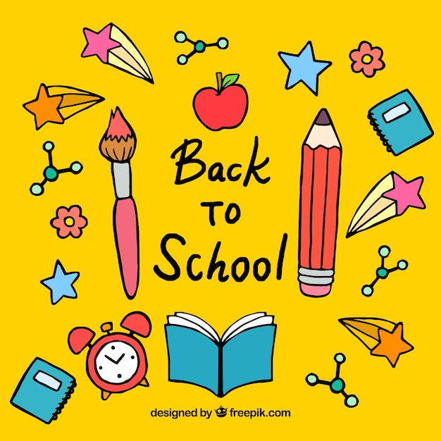 Back to school concept background Free Vector