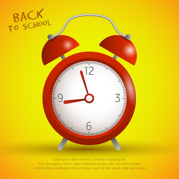 Back to school concept Free Vector