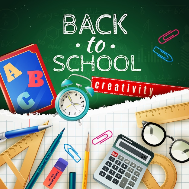 Back to school design concept Free Vector