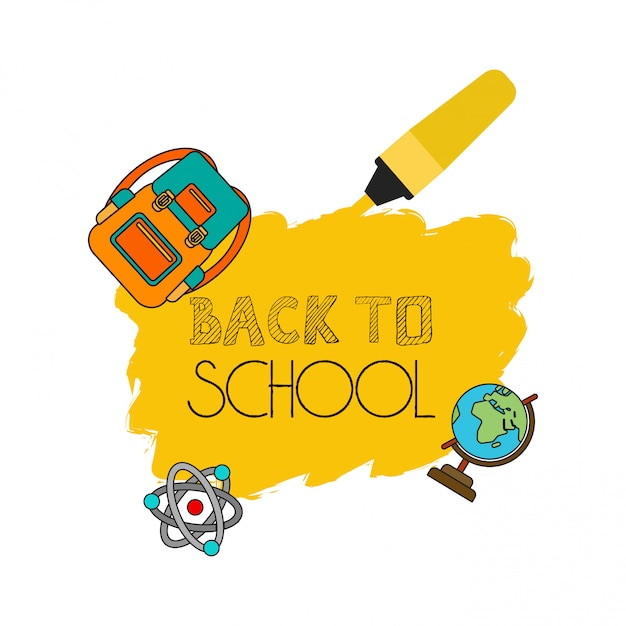 Back to school design with white background vector Free Vector