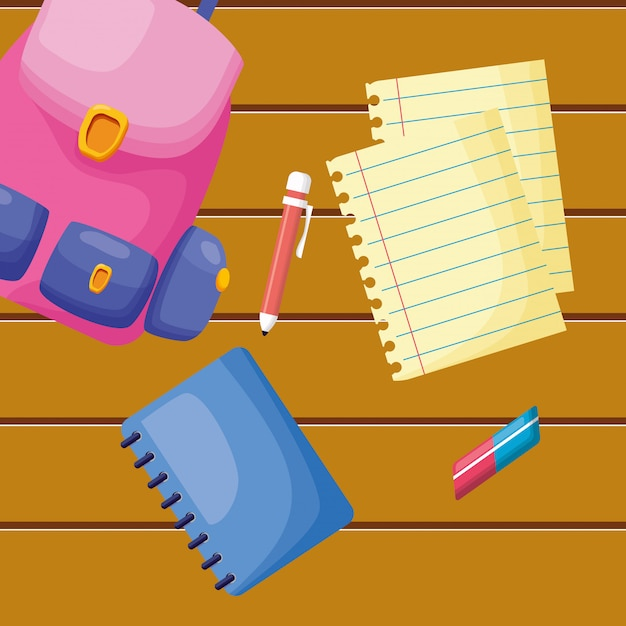 Back to school element collection Free Vector