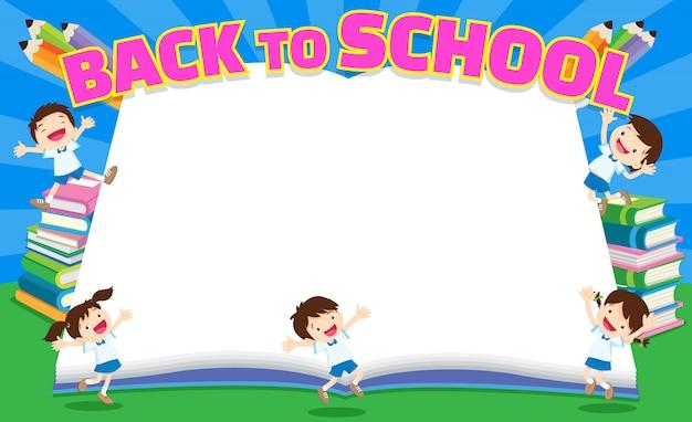Back to school empty book Premium Vector