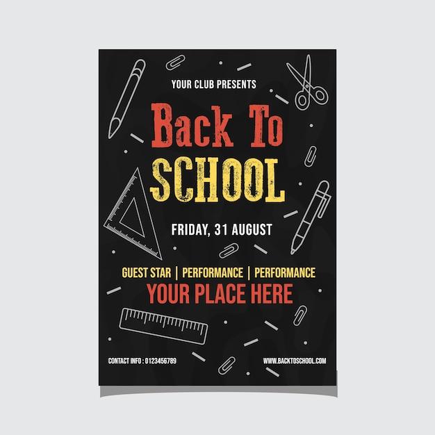 Back to school event flyer Premium Vector