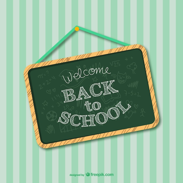 Back to school greenboard design Vector | Free Download