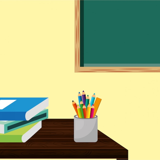 Back to school image Premium Vector