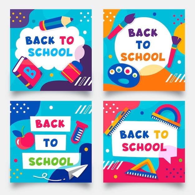 Torna ai post di instagram della scuola Vettore gratuito