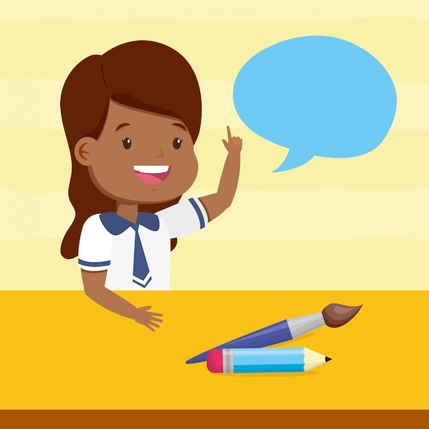 Back to school kid Free Vector