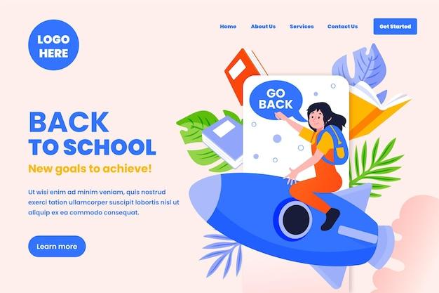 Torna alla pagina di destinazione della scuola webtemplate Vettore gratuito