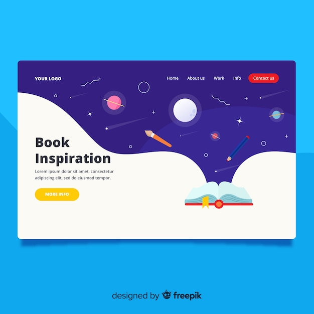 Back to school landing page Free Vector