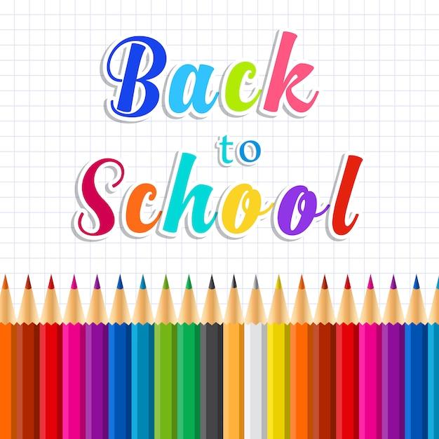 Back to school message on paper Premium Vector