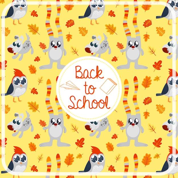 Back to school pattern background Premium Vector