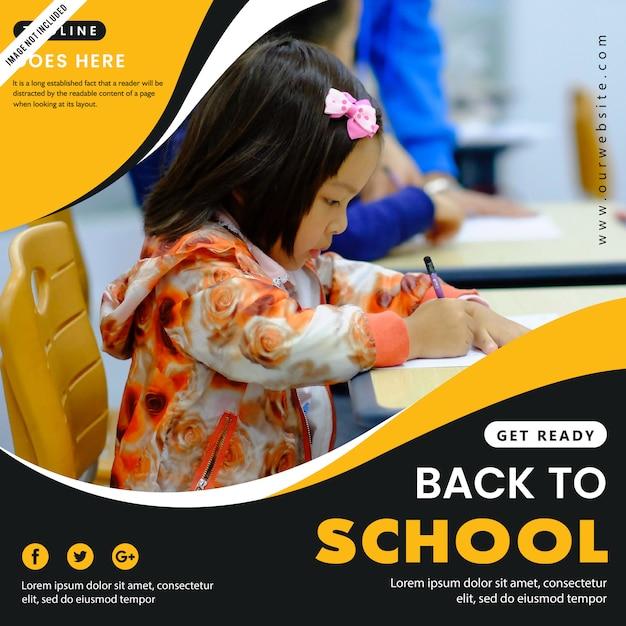Back to school poster Premium Vector