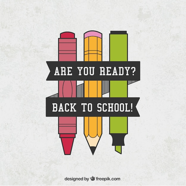 Back to school poster Free Vector