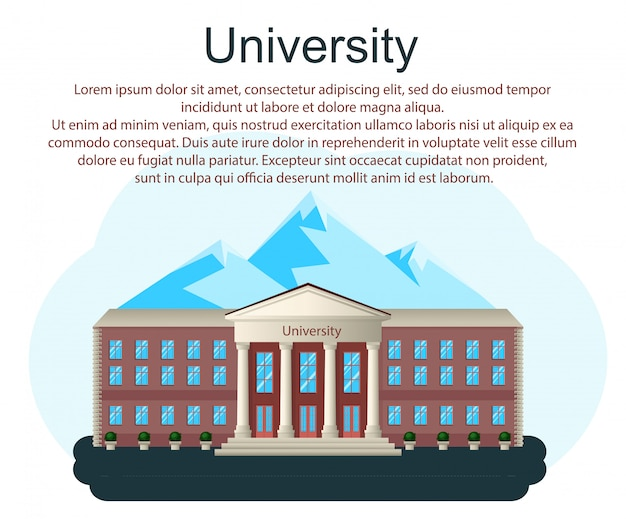 Back to school, road and sign, vector cartoon background Premium Vector