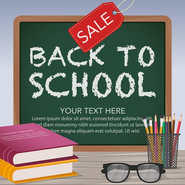 2d81dac303 Back to school sale background Free Vector