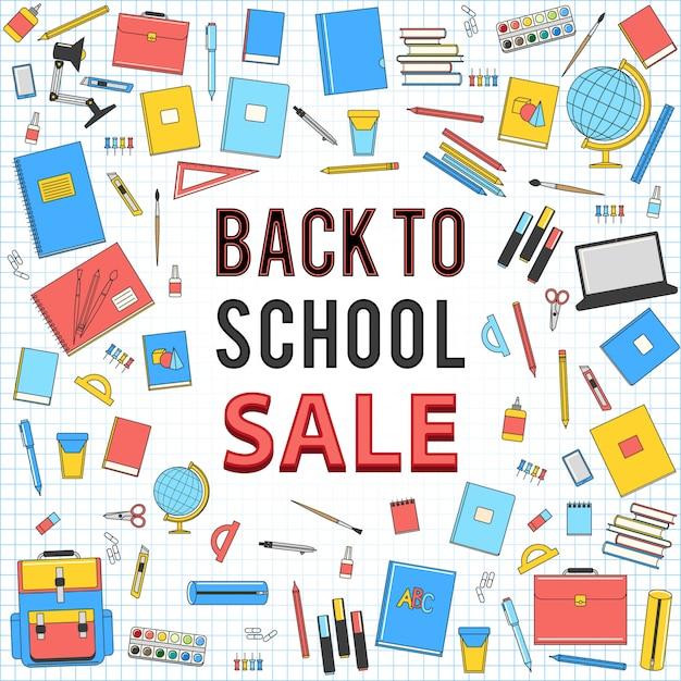 Back to school sale Premium Vector