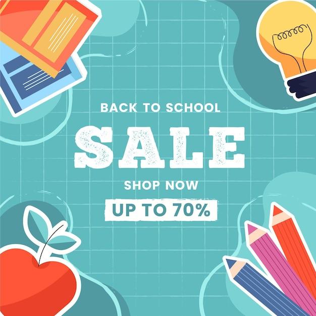 Torna al design delle vendite a scuola Vettore gratuito