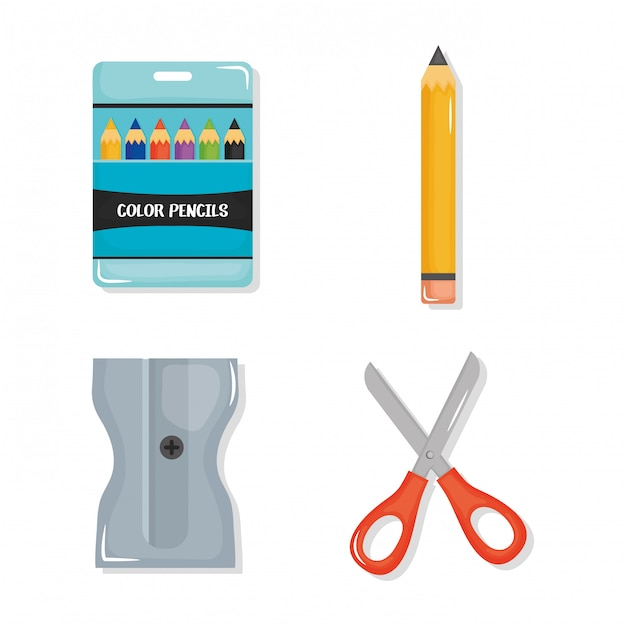 Back to school set icons Free Vector