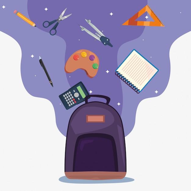 Back to school supplies Premium Vector