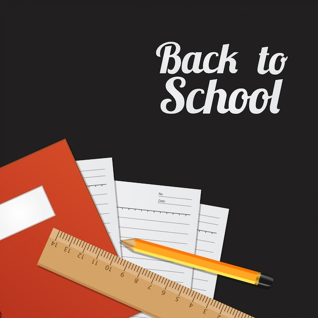 Back to school template background Premium Vector