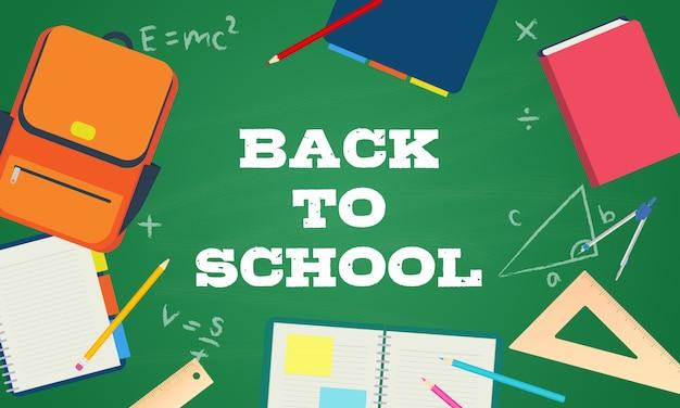 Back to school vector Premium Vector
