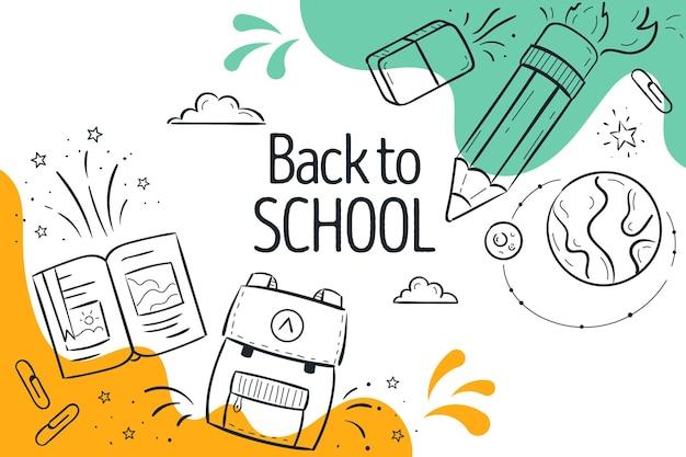 Back to school wallpaper Free Vector