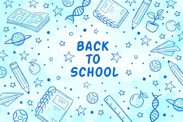 Back to school wallpaper Free Vector