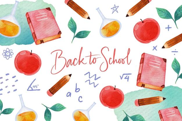 Back to school wallpaper Premium Vector