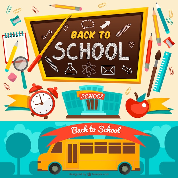 Back to school vector. Free download