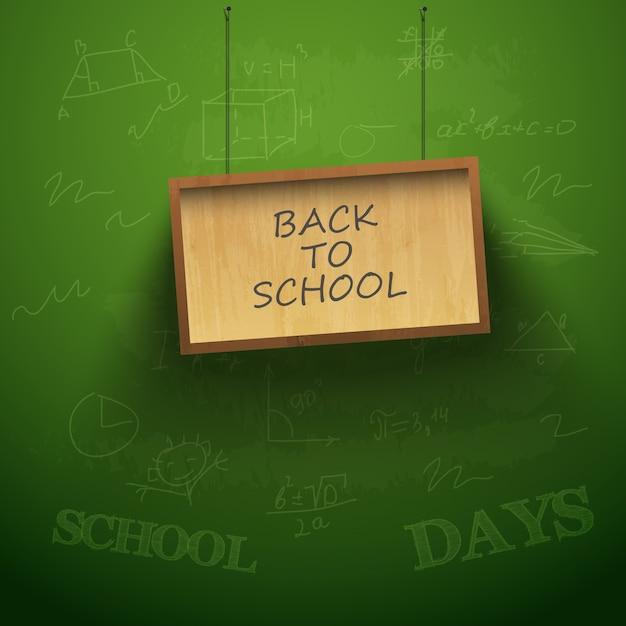 掛かる板が付いている学校の背景に戻る 無料ベクター