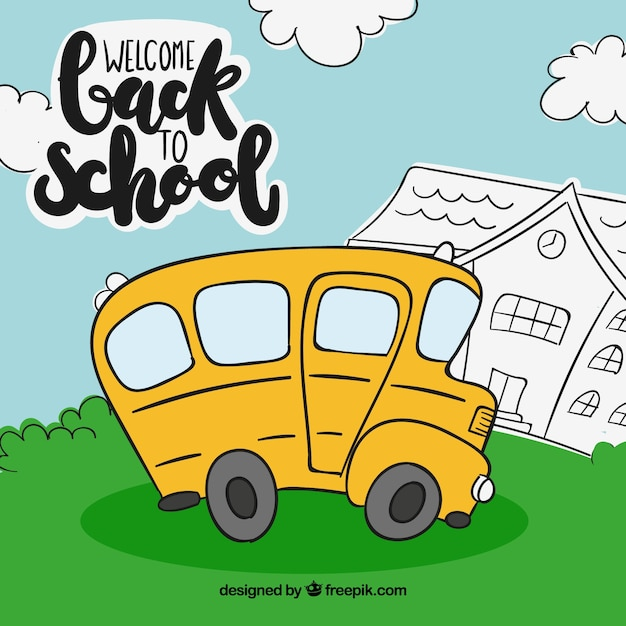 Back to school concept with school bus