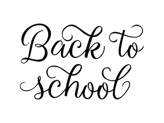 Back to school creative lettering