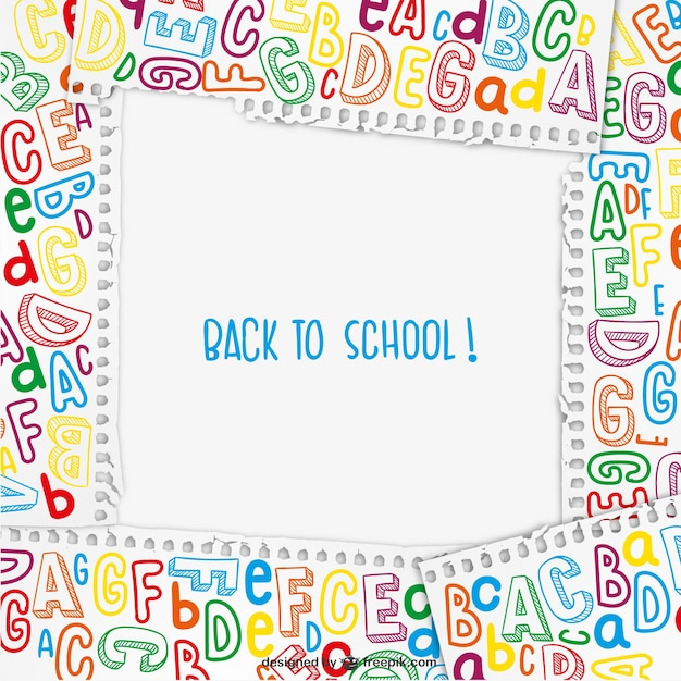 Back to school frame vector Vector | Free Download