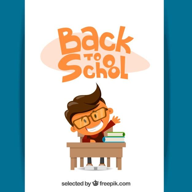 Back to school illustration Free Vector