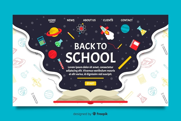 Вернуться на страницу школы Бесплатные векторы
