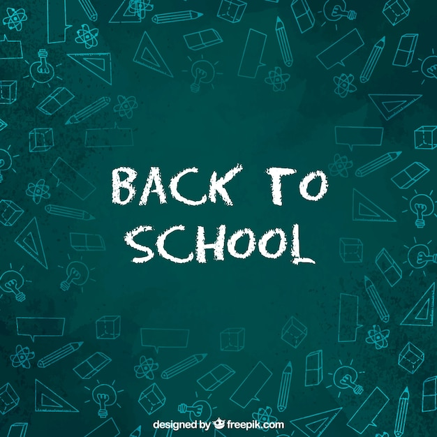 Back to school lettering design chalkboard style