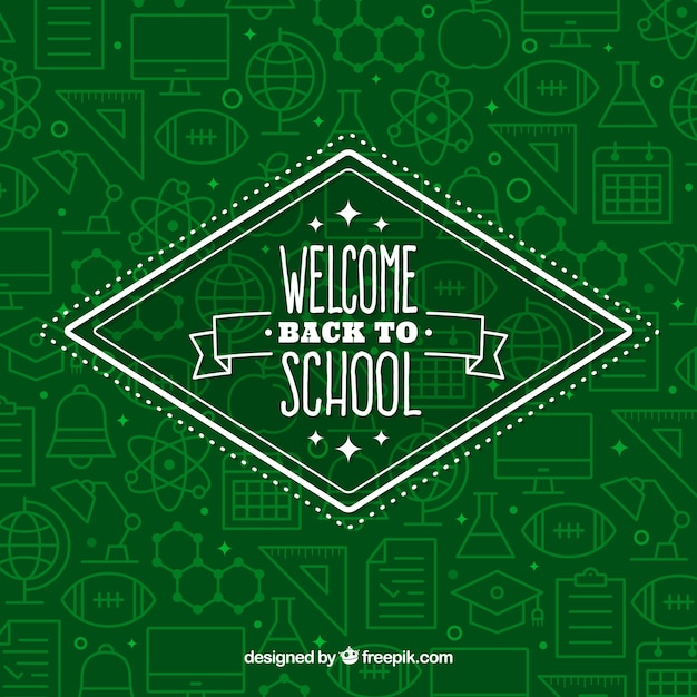 Back to school pattern background Free Vector
