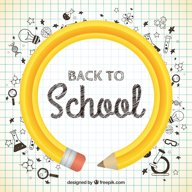 Back To School Pencil Vector Free Download