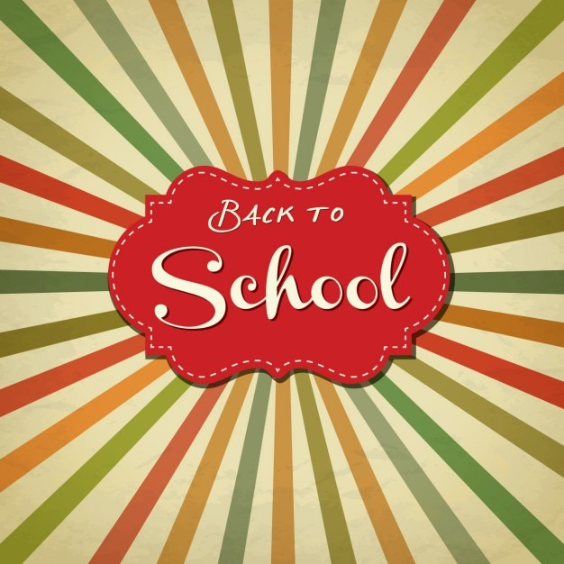 Back to school retro background Free Vector