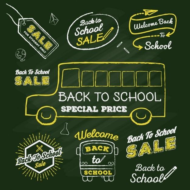 Back to school sales designs vector free download